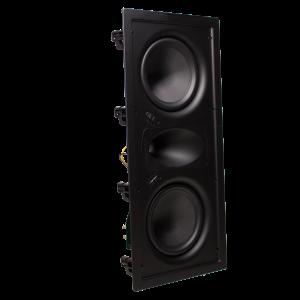 Ghost HT Series dual 6.5 in LCR In-Wall Speaker, Glass Fib