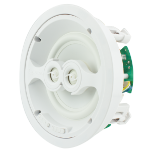 6.5 in In-Ceiling Speaker with Dual Tweeters, White Poly W