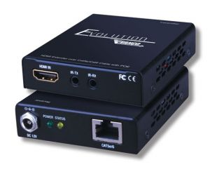 Ultra Slim HDMI over Single CAT5e/CAT6 Extender with PoE 165