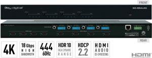 4x4 4K/18G HDMI Matrix Switcher, w/ Ind. Audio Switching