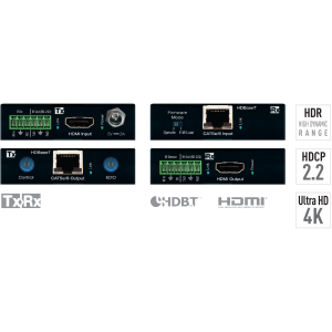 4K POH/HDBaseT/HDMI Extenders (TX/RX KIT)