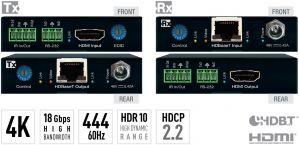 4K/18G POH/HDBT/HDMI Extenders (Includes KIT TX/RX 4K/70Mete