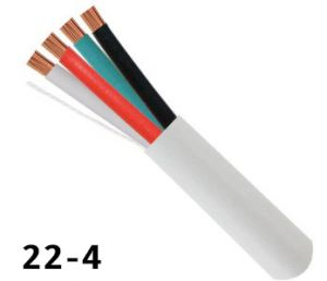 22AWG x 4 Conductor Alarm Wire 500' White