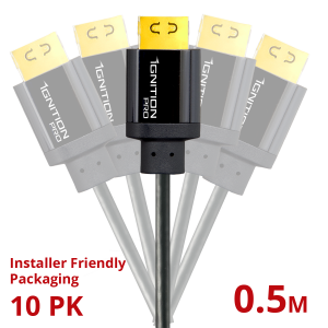 10 PACK Ignition Pro HDMI 18Gbps 0.5M