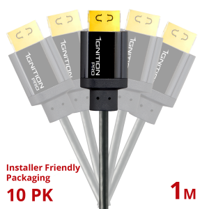 10 PACK Ignition Pro HDMI 18Gbps 1M