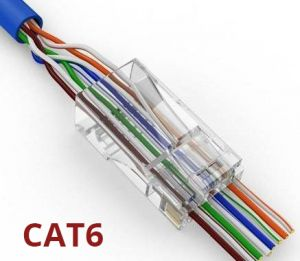 EZ-45 CAT6 RJ45 Connectors - 100pk
