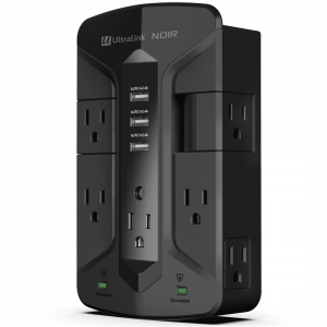 UltraPower Premium 7 Outlet (2 Swivel) +3x USB Wall Mount,